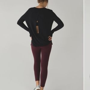 Size 6 Lululemon Black Bring It Backbend Sweater